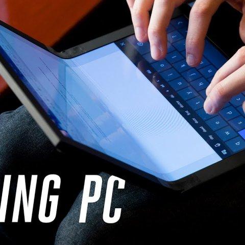 Lenovo создал прототип ноутбука со складным экраном