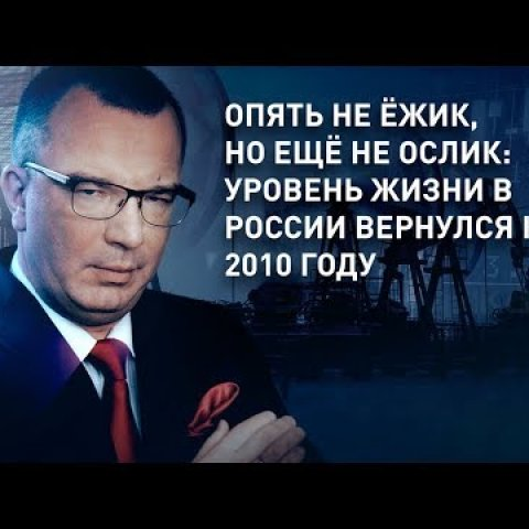 Опять не ёжик, но ещё не ослик: уровень жизни в России вернулся к 2010 году