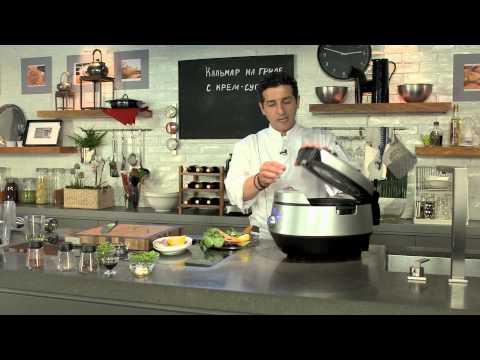 Кулинария: Рецепт кальмара с гороховым крем-супом от Бруно Марино