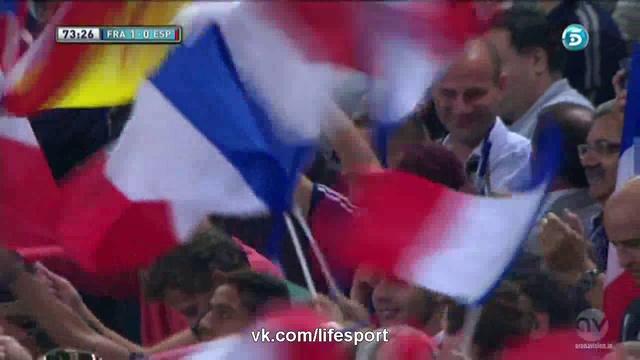 Видео Франция 1:0 Испания | Гол Реми HD
