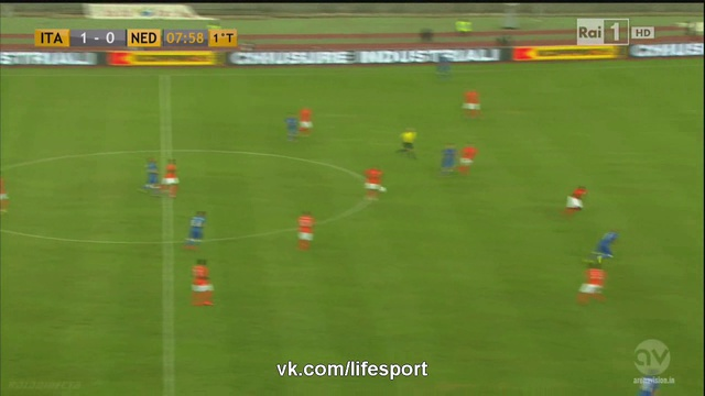 Видео Италия 2:0 Нидерланды HD