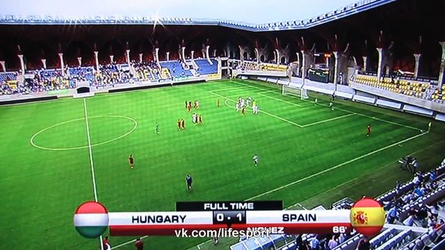 Видео Венгрия U21 - Испания U21 0:1 HD