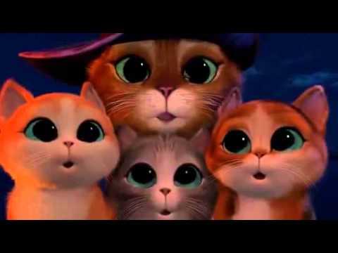 Смотреть мультфильм кот в сапогах и три котёнка