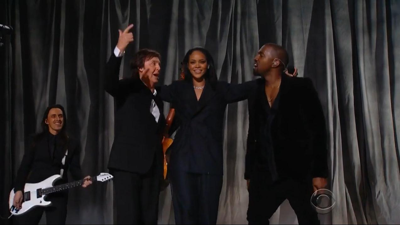 Rihanna, Kanye West & Paul McCartney - FourFiveSeconds (Live @ Grammy Awards)