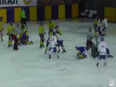 ХОККЕЙ ДРАКА УКРАИНЦЕВ - МОНГОЛАМИ
