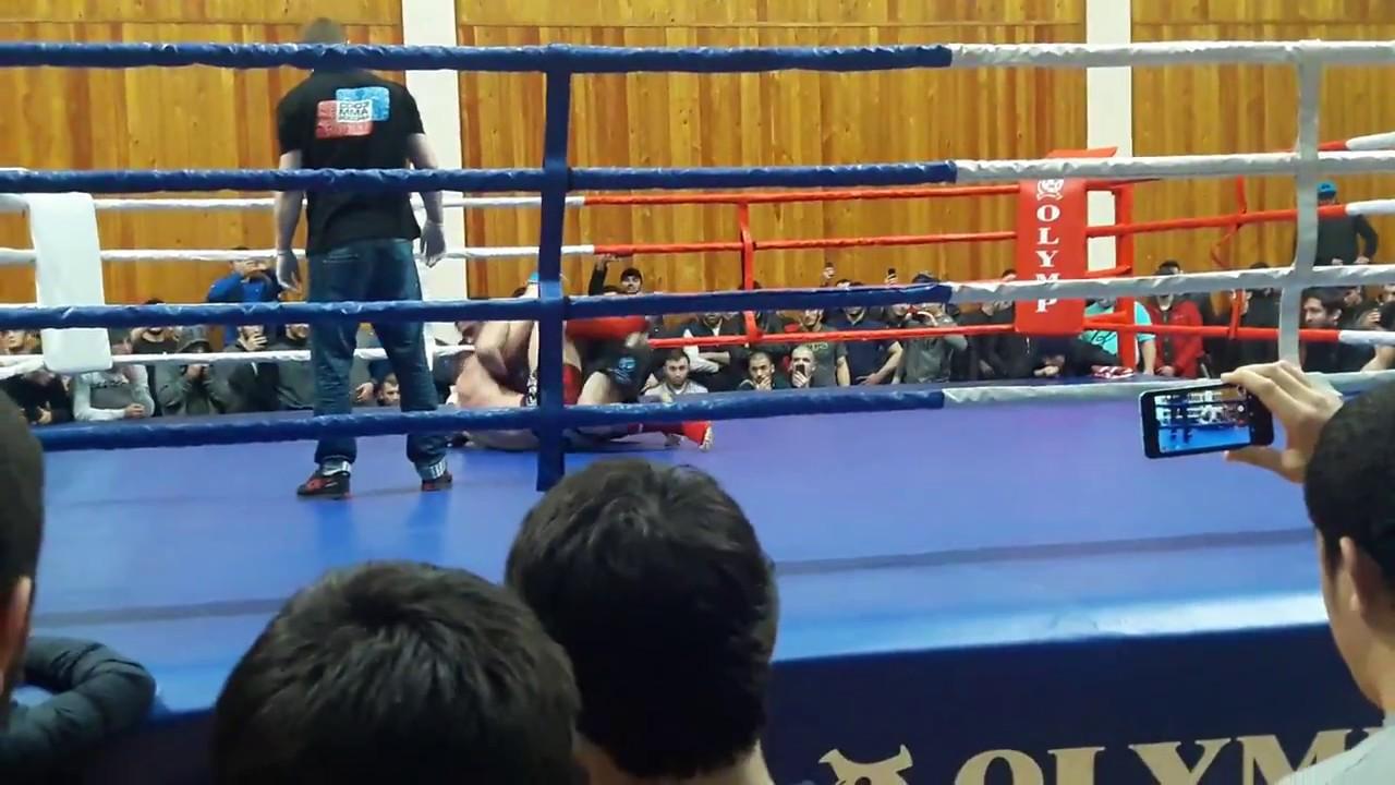 Массовая драка на чемпионате MMA в Дагестане